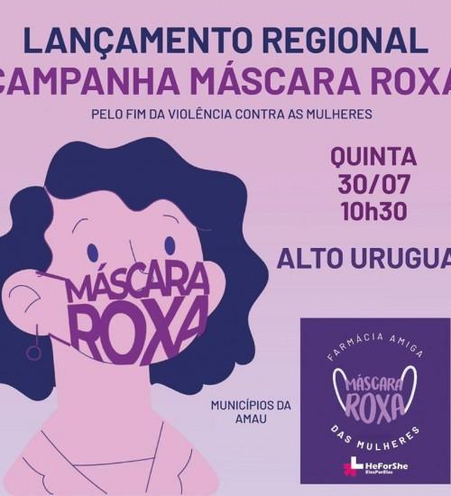Itatiba do Sul participará da campanha Máscara Roxa.