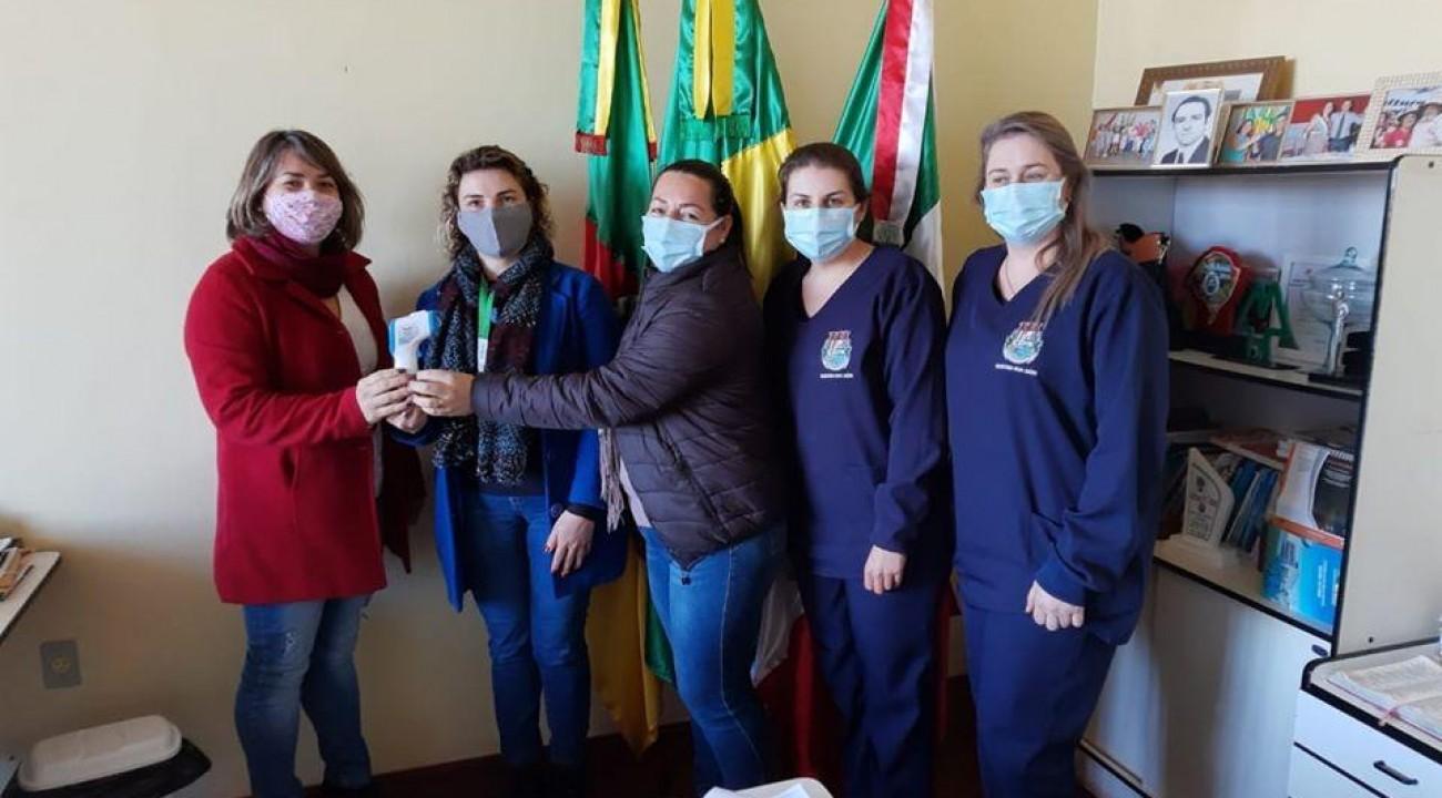 Município de Itatiba do Sul recebe doação de termômetro.