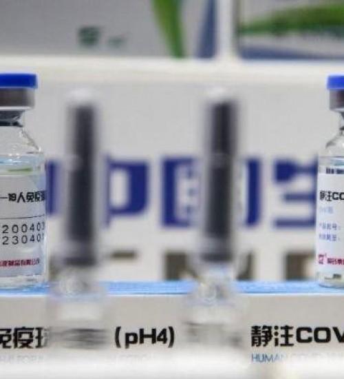 China exibe pela primeira vez suas vacinas contra o coronavírus.
