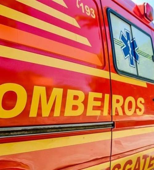 Motociclista sofre ferimentos graves em acidente em Seara (SC).