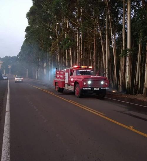 Em menos de uma semana, Bombeiros Voluntários de São Valentim atendem 5 chamados de incêndio.