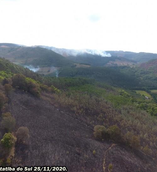 Municípios de Itatiba do Sul e Erval Grande sofrem com incêndios.