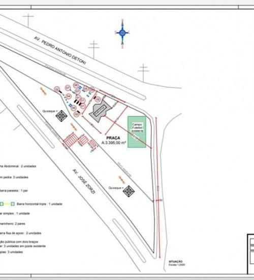 Praça do Quiosque será revitalizada em Itatiba do Sul.