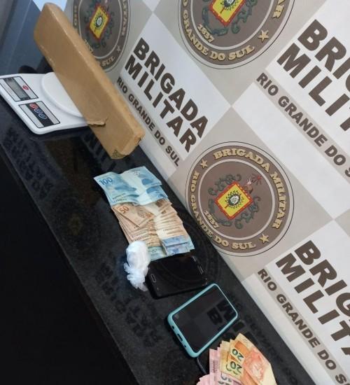 Homens são presos em Erval Grande por tráfico de drogas.