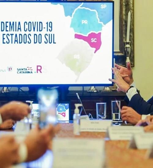 RS, SC e PR terão articulação conjunta no enfrentamento à Covid-19 na região Sul.