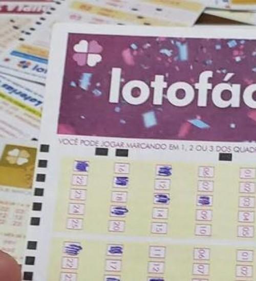 Apostador de Chapecó (SC) ganha R$ 1,8 milhão na loteria.