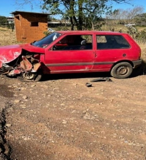 Acidente de trânsito deixa uma pessoa ferida na RSC-480 em Erval Grande.