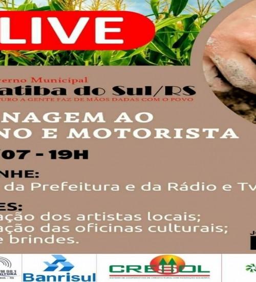 Sucesso total na Live do agricultor e motorista de Itatiba do Sul.